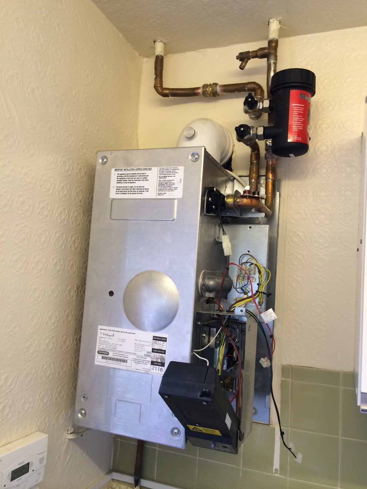 Boiler Breakdown Repair Magnaclean Potterton Promax Gregory Heating and Plumbing Ltd