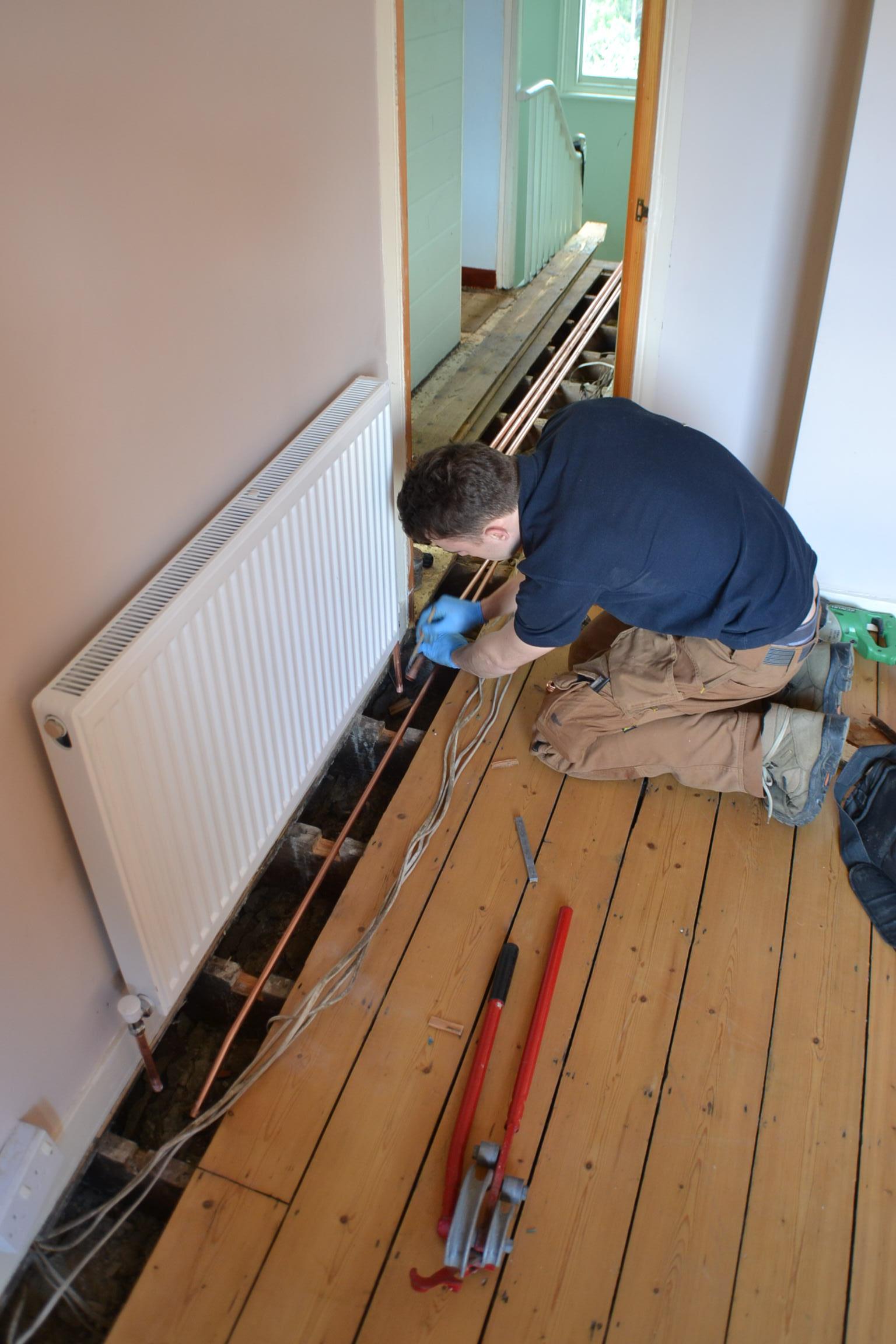 Work in progress - Gregory Heating and Plumbing Ltd (2)