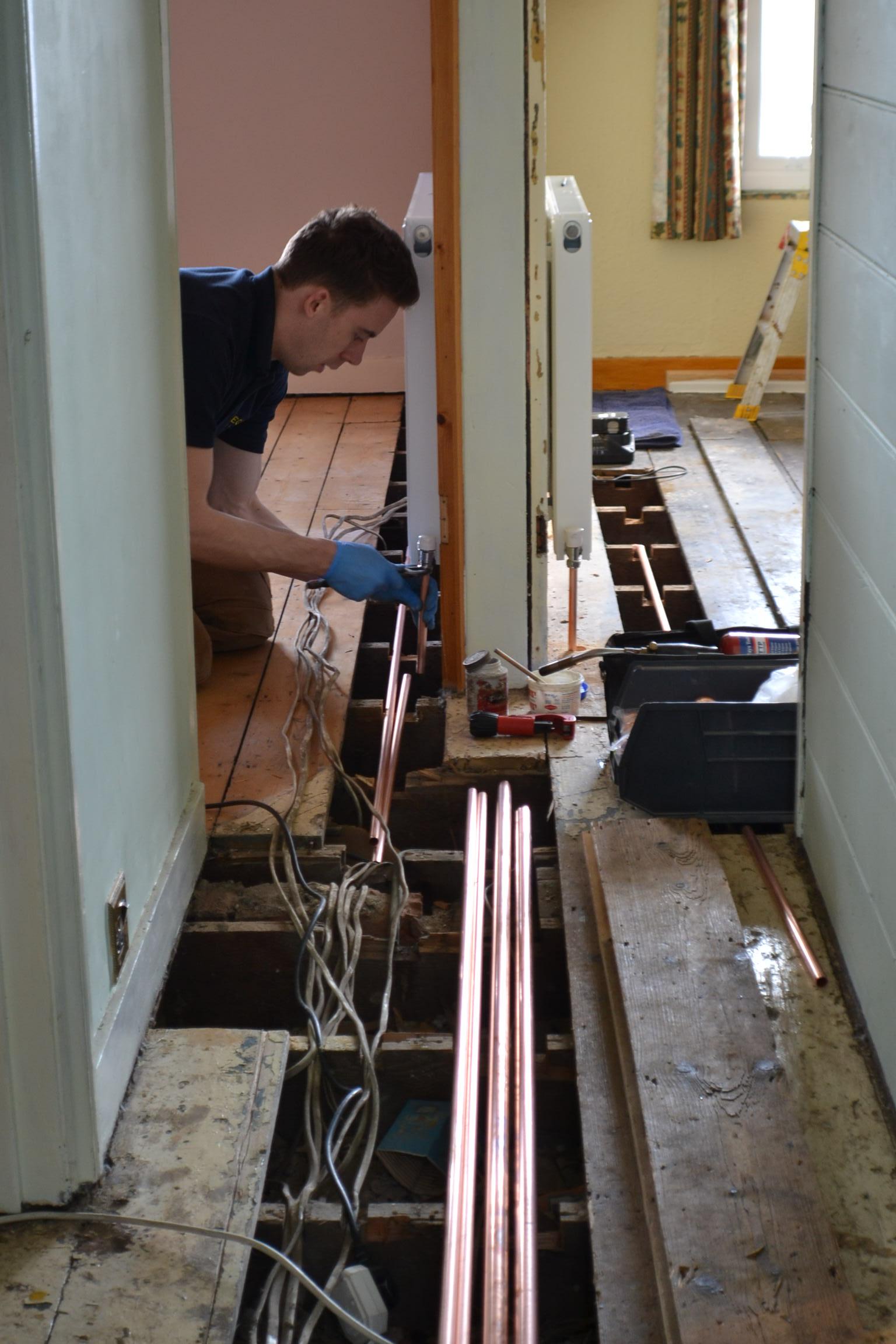 Work in progress - Gregory Heating and Plumbing Ltd (3)